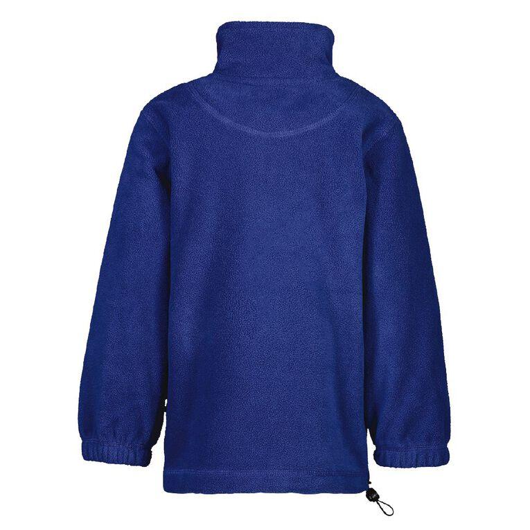 Schooltex Greymouth Main Polar Fleece Top with Embroidery, Royal, hi-res