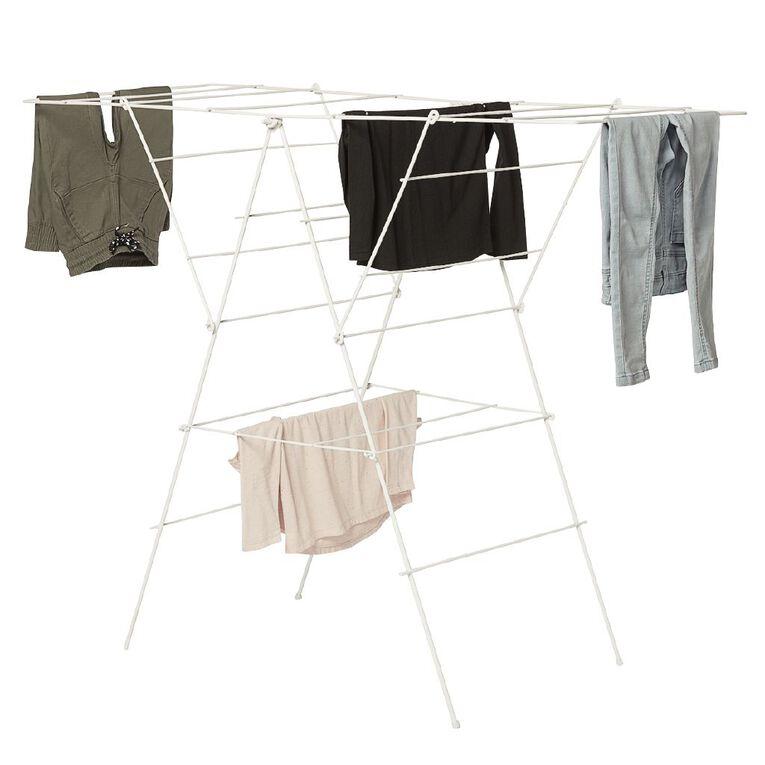 Living & Co Clothes Airer White White 22 Rail, , hi-res