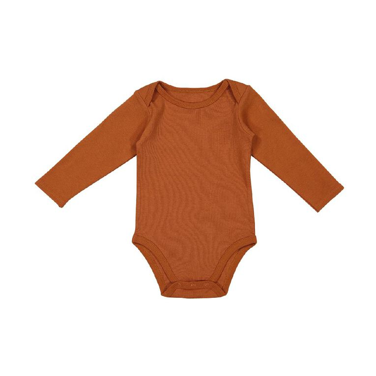 Young Original Baby 3 Pack Long Sleeve Bodysuits, Grey Mid, hi-res