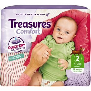Treasures Standard Infant Nappies 22 Pack