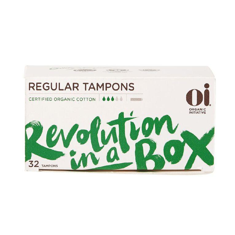 Oi Organic Cotton Tampon Regular 32 pack, , hi-res image number null