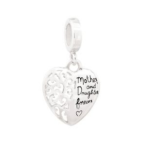 Ane Si Dora Sterling Silver Mother Daughter Charm