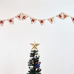Wonderland Mistletoe Fizz Merry Christmas Banner 2.7M