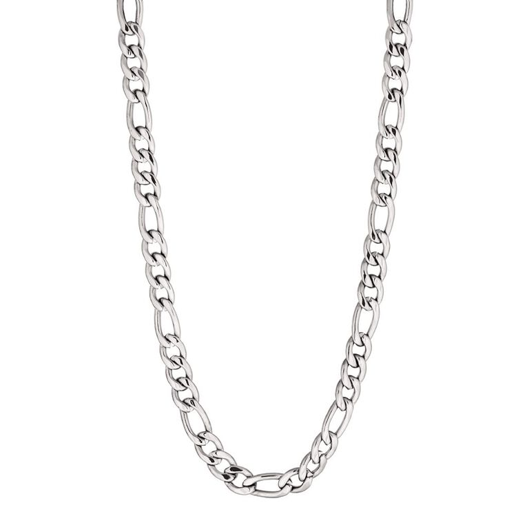 Stainless Steel Men's Figaro Necklace 65cm, , hi-res