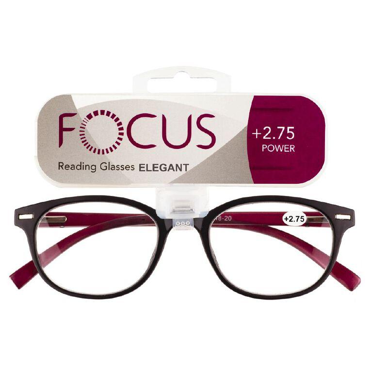 Focus Reading Glasses Elegant Power 2.75, , hi-res