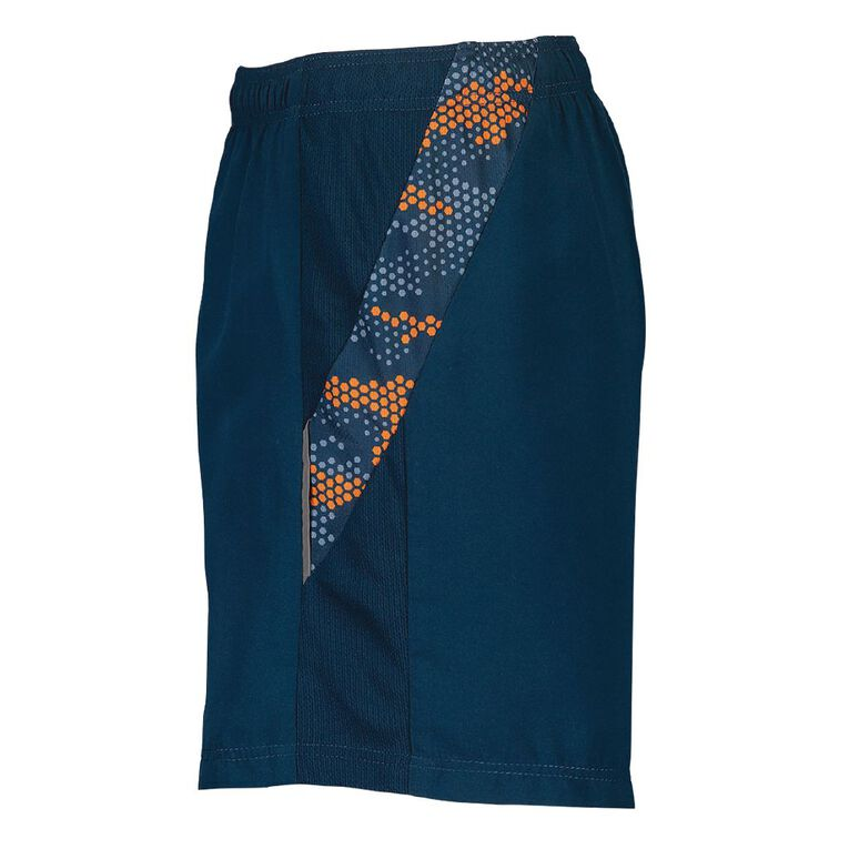 Active Intent Boy's Panel Print Shorts, Blue Dark, hi-res image number null