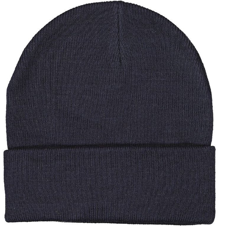 H&H Essentials Entry Turn Up Beanies, Navy, hi-res
