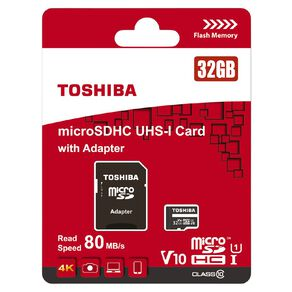 Toshiba R80 MicroSD Card - 32GB
