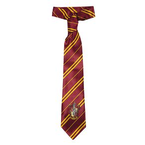 Harry Potter Gryffindor House Crest Tie Red One Size