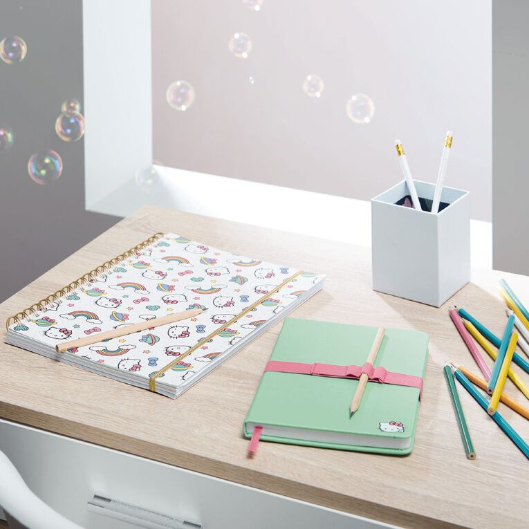 Hello Kitty All Over Print Softcover Project Notebook White A4, , hi-res