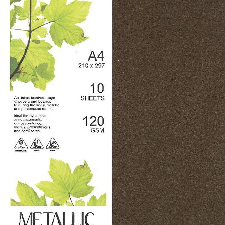 Direct Paper Metallic Paper 120gsm 10 Pack Bronze A4, , hi-res