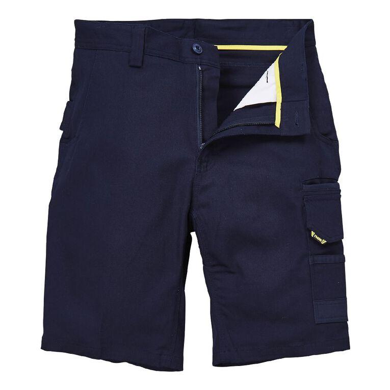 Tradie Flex Contrast Cargo Shorts, Navy, hi-res