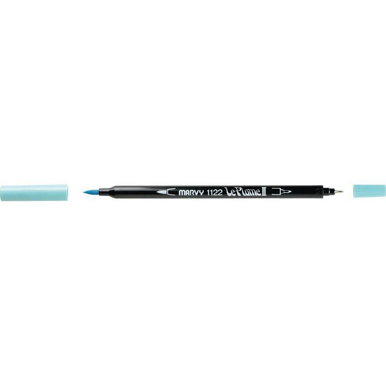 MARVY Le Plume II Dual Tip Marker Aquamarine, , hi-res