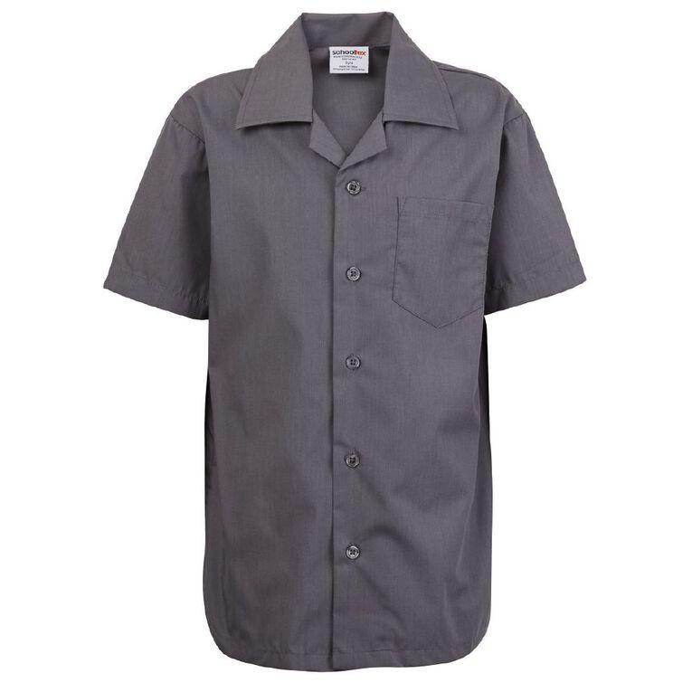 Schooltex Summer School Shirt, Grey, hi-res