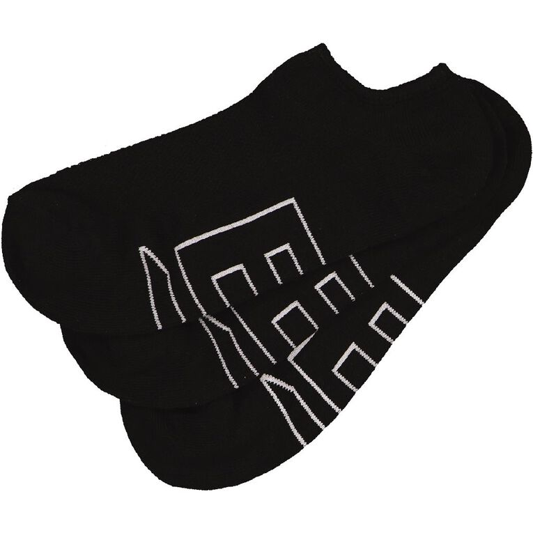 B FOR BONDS Women's Mesh No Show Socks 3 Pack, Black, hi-res