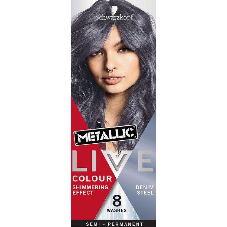 Schwarzkopf LIVE Colour Ultra Bright's Metallic Steel Denim, , hi-res