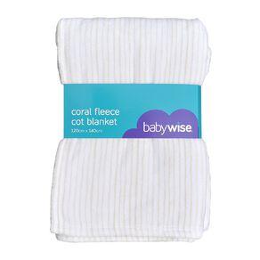 Babywise Coral Fleece Cot Blanket