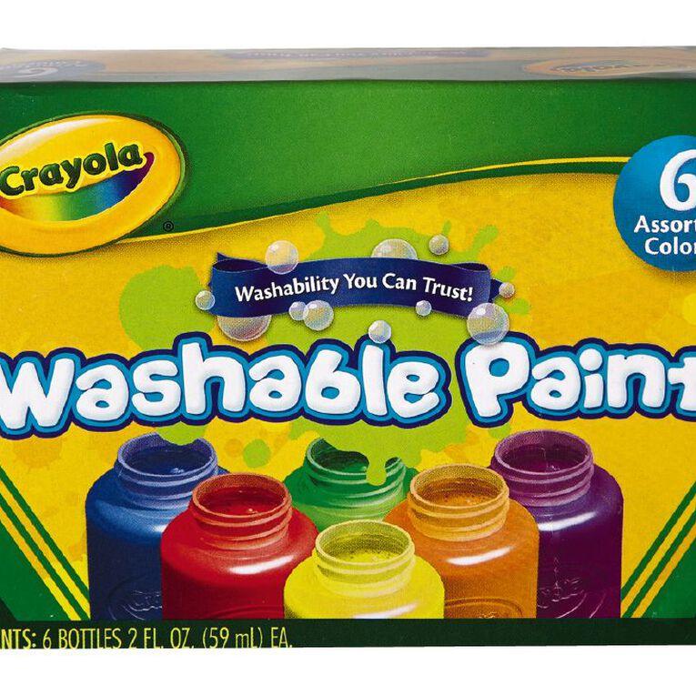 Crayola Washable Paints 6 Pack, , hi-res