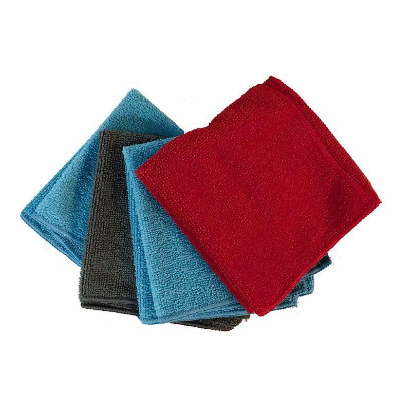 Living Essentials Microfibre Cleaning Cloth 4 Pack, , hi-res