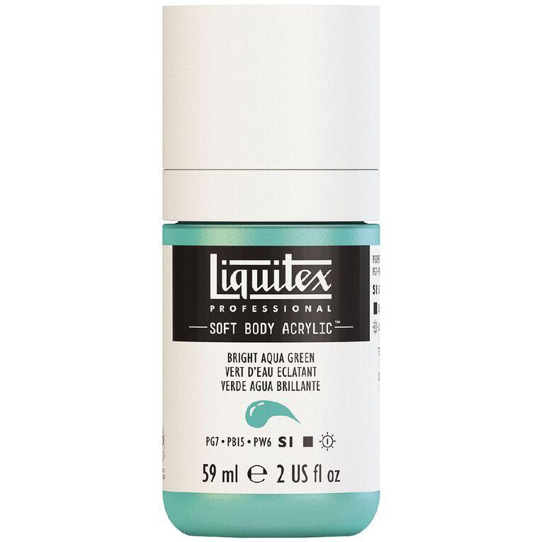 Liquitex Soft Body Acrylic 59ml Bright Aqua Green S1, , hi-res