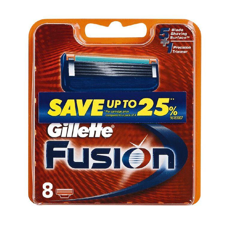 Gillette Fusion Manual Cartridges 8 Pack, , hi-res