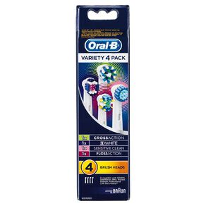 Oral-B Vitality Variety Refill Heads 4 Pack