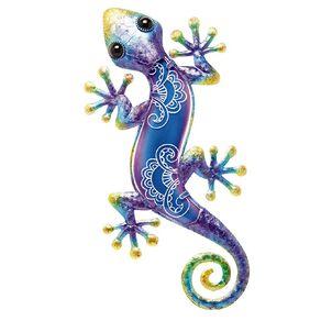 Kiwi Garden Wall Art Lizard 38.5cm Assorted