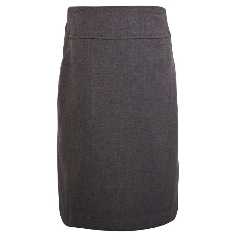 Schooltex A-Line School Back Split Skirt, Grey Dark, hi-res