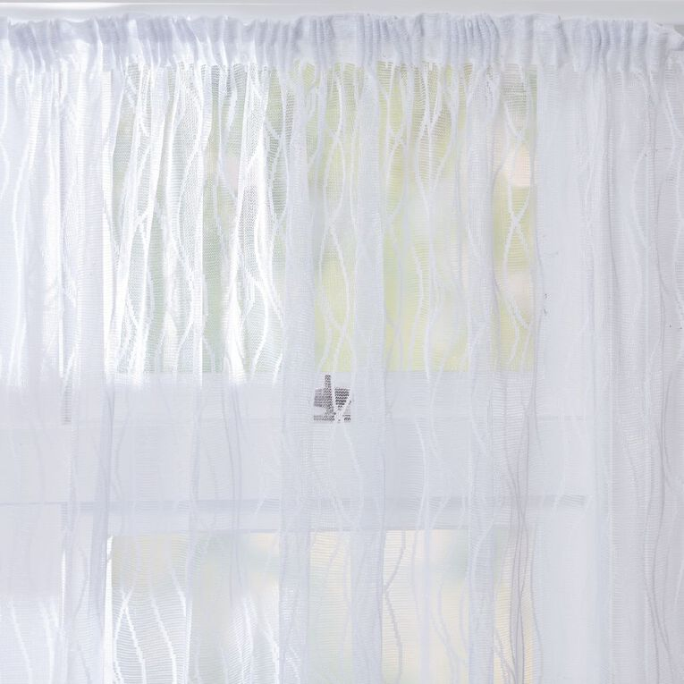 Living & Co Aurora Net White 150-230cm x 135cm Drop, White, hi-res