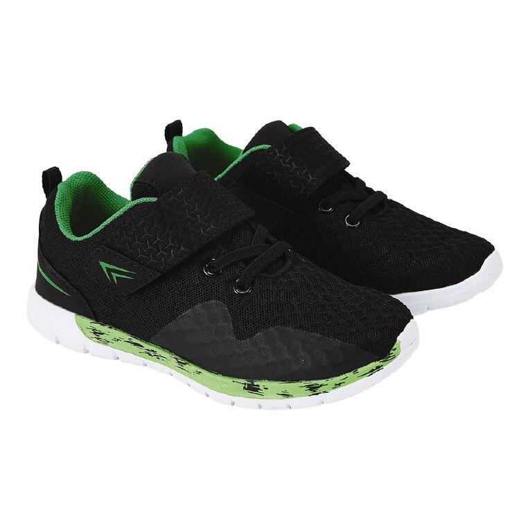 Active Intent Boys' Topper Shoe, Black/Green, hi-res
