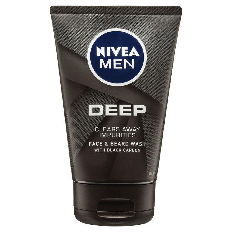 Nivea Men Face & Beard Wash Gel Deep 100ml, , hi-res