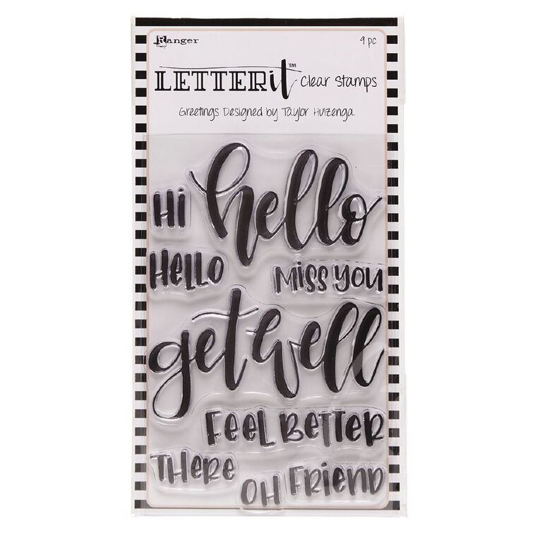 Ranger Letter It Clear Stamps Greetings, , hi-res