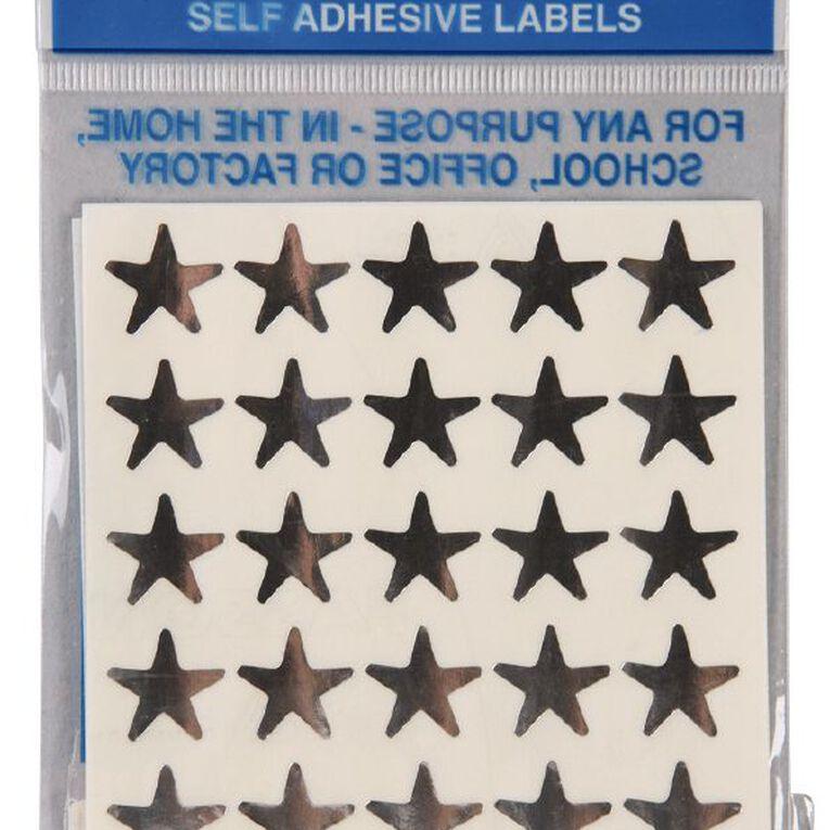 Quik Stik Labels Stars 150 Pack Silver, , hi-res
