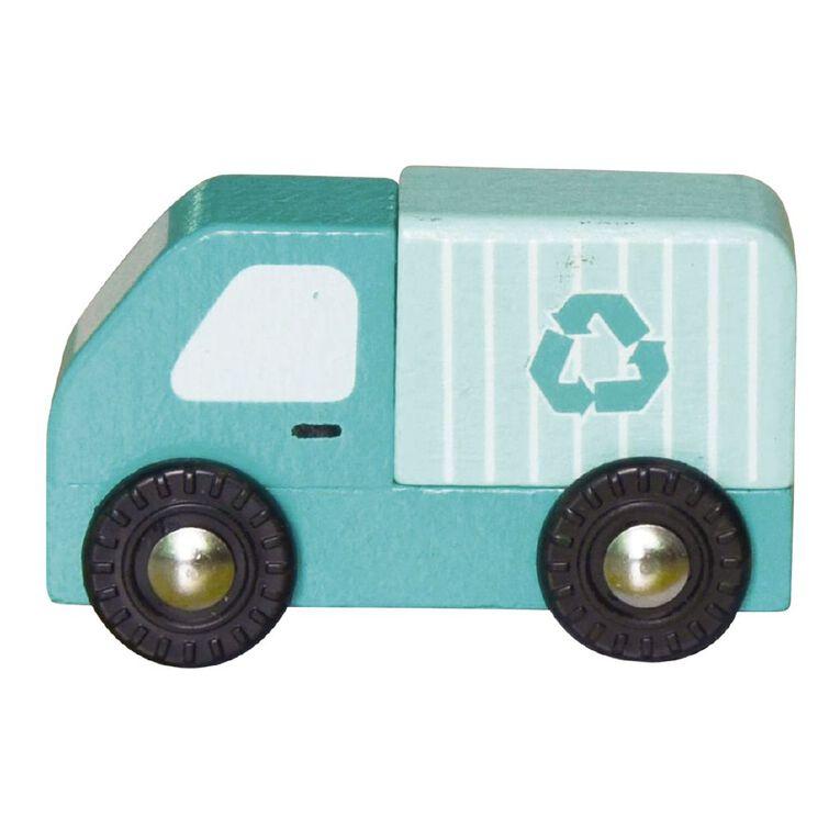 Play Studio Mini Wooden Vehicle Recycling Truck, , hi-res