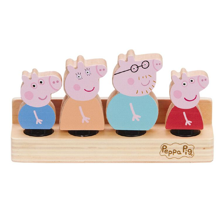 Peppa Pig Wooden Play Family Figure Pack, , hi-res image number null