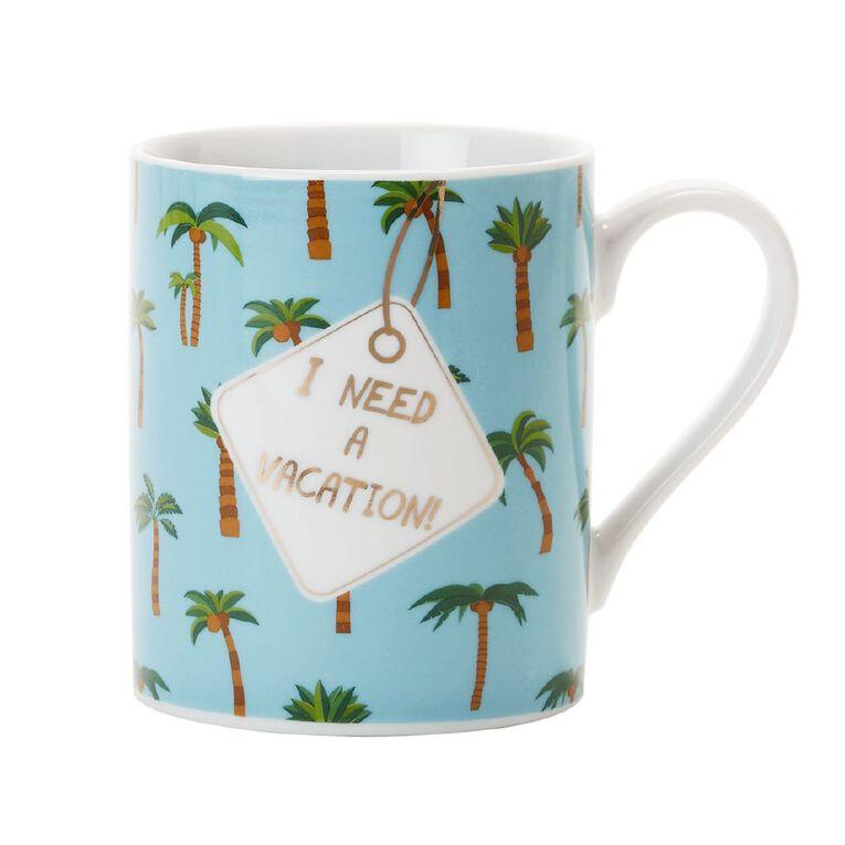 Living & Co Foil Printed Mug Vacation Teal, , hi-res