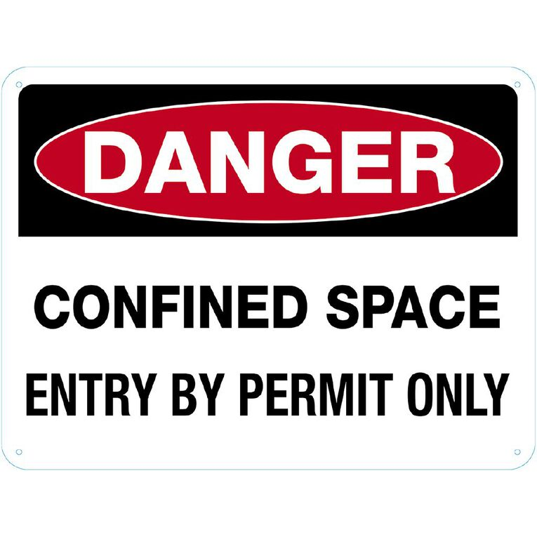 WS Danger Confined Space Sign Large  450mm x 600mm, , hi-res