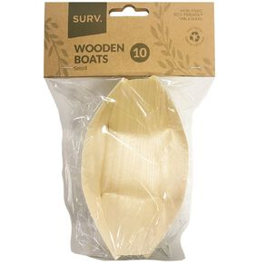 SURV. Wooden Boats Small 13cm 10 Pack