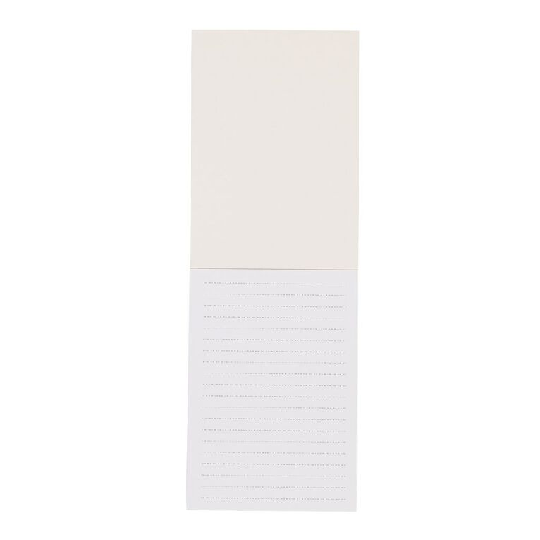 Uniti Kiwi Breeze Notepad With Fabric Binding Gold Foil White A6, , hi-res
