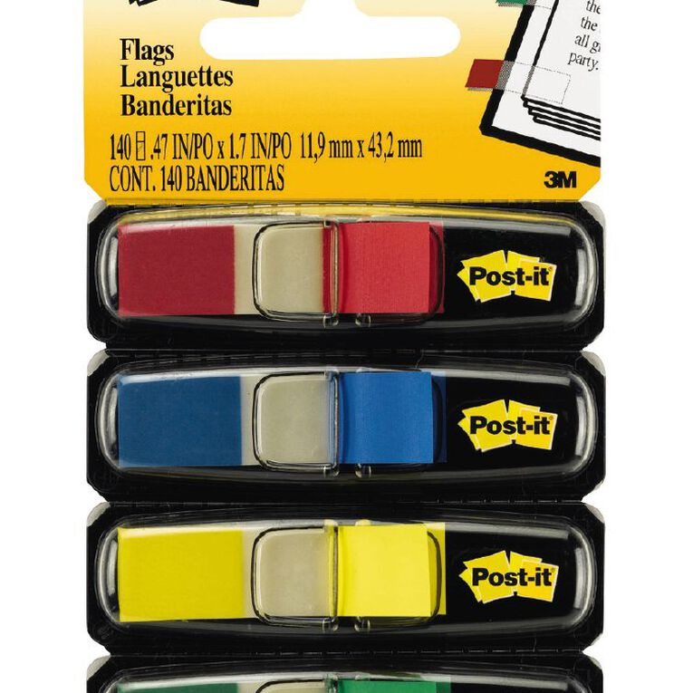 Post-It Flags 4 Pack Assorted, , hi-res