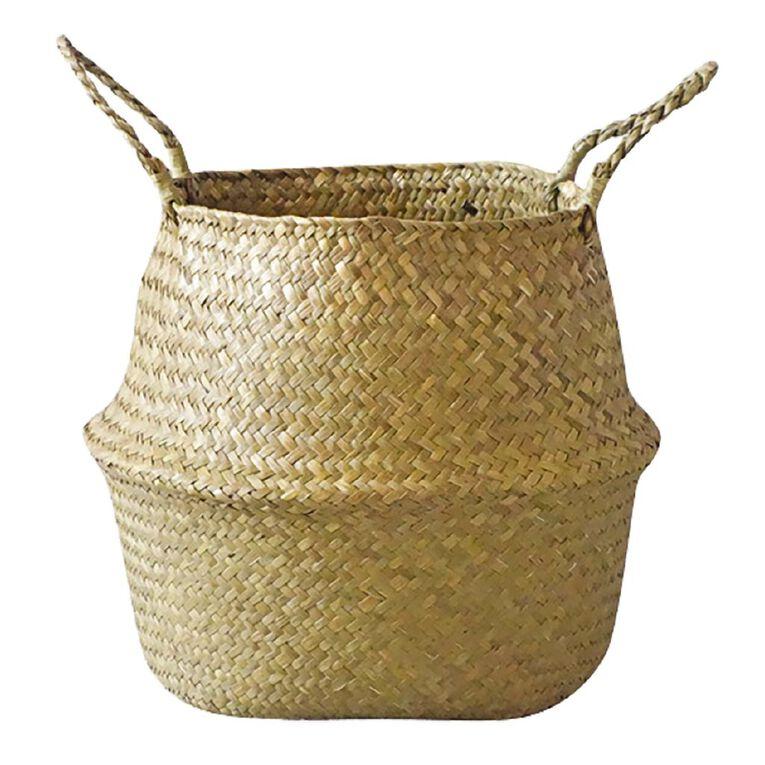 Living & Co Seagrass Belly Basket Natural, , hi-res