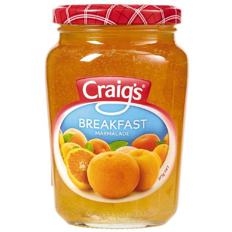 Craig's Breakfast Marmalade 375g, , hi-res