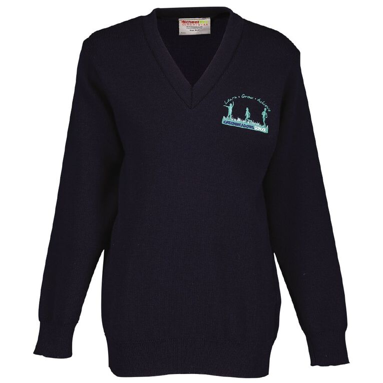 Schooltex Greenmeadows School V-Neck Jersey, Navy, hi-res