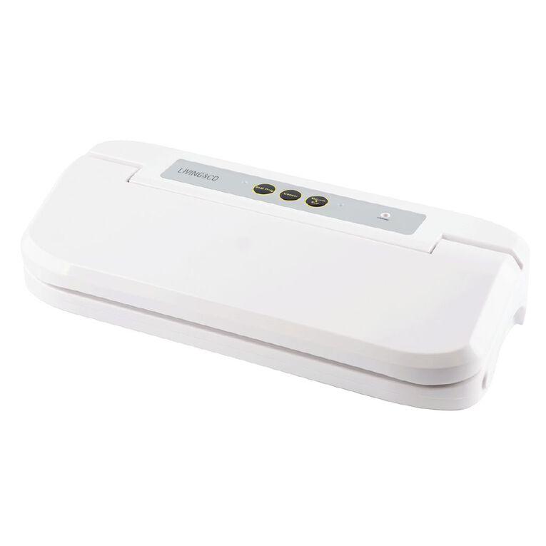 Living & Co Vacuum Food Sealer White, , hi-res