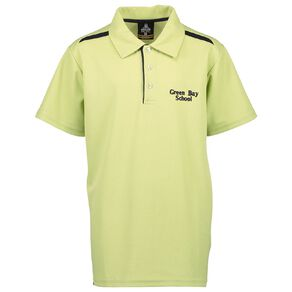 Schooltex Green Bay Intermediate Short Sleeve Polo with Embroidery