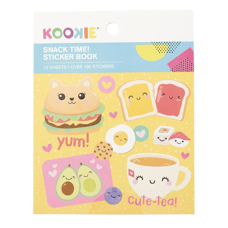 Kookie Mini Sticker Book 12 Sheets Snack Time, , hi-res image number null