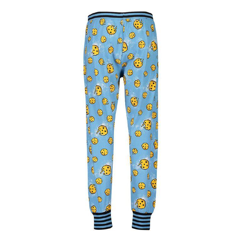Sesame Street Men's Stretch Pyjama Pants, Blue, hi-res