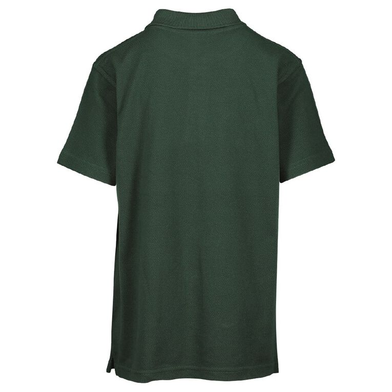 Schooltex Cosgrove School New Short Sleeve Polo with Embroidery, Bottle Green, hi-res