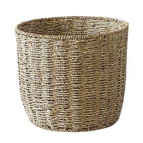 Living & Co Round Seagrass Basket Natural Medium