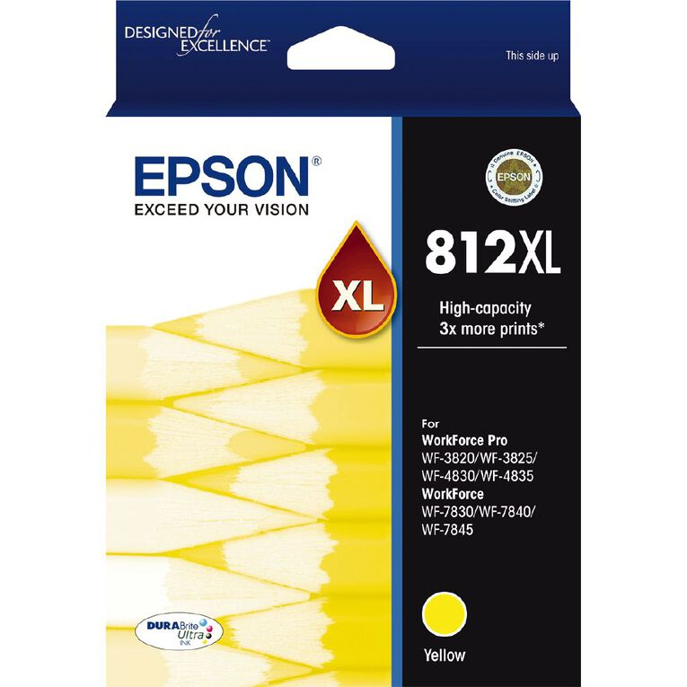 Epson Ink 812XL Yellow (1100 Pages), , hi-res
